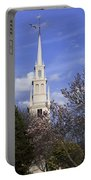 Trinity Church In Spring Portable Battery Charger