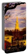Trinity Church Spring Sunset Portable Battery Charger