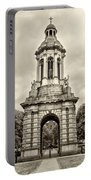 Trinity College Arch - Dublin Ieland - Sepia Portable Battery Charger