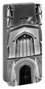 Trinity Episcopal Cathedral Black And White Portable Battery Charger