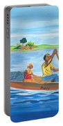Trip To Lake Kivu In Congo Portable Battery Charger
