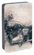 Triumph Bonneville - Standard Motorcycle - 1959 - Motorcycle Poster - Automotive Art Portable Battery Charger