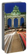 Arcade Du Ciquantenaire At Blue Hour Portable Battery Charger by Barry O Carroll