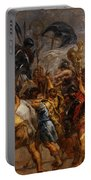 Triumphal Entry Of Henry Iv In Paris Portable Battery Charger