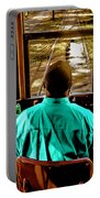 Trolley Driver In New Orleans Portable Battery Charger