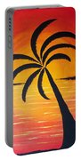 Tropic Of Palms Portable Battery Charger