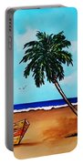 Tropical Beach Scene Portable Battery Charger