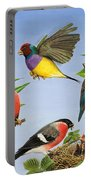 Tropical Birds Portable Battery Charger by RB Davis