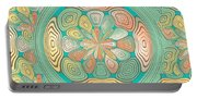 Tropical Color Abstract Portable Battery Charger