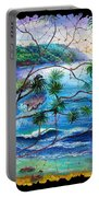 Tropical Cove  Fresco Triptych 2 Portable Battery Charger