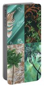 Tropical Dance Square By Madart Portable Battery Charger