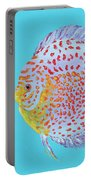 Tropical Discus Fish With Red Spots Portable Battery Charger
