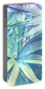 Tropical Dreams In Pastel Purple-blue Portable Battery Charger