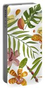 Tropical Flora Portable Battery Charger
