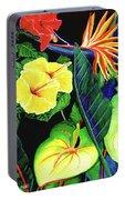 Tropical Flower Arrangement #251 Portable Battery Charger