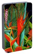 Tropical Flowers Assortment #60 Portable Battery Charger