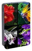 Tropical Flowers Multiples Portable Battery Charger