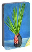 Tropical Flowers Still Life #218 Portable Battery Charger