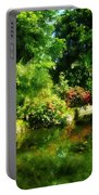 Tropical Garden By Lake Portable Battery Charger