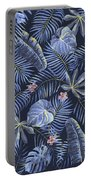 Tropical Leaves Pattern Portable Battery Charger