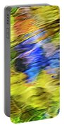 Tropical Mosaic Abstract Art Portable Battery Charger
