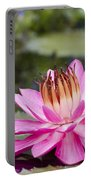 Tropical Night Flowering Water Lily Rose De Noche II Portable Battery Charger