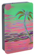 Hot Pink Coconut Palm Portable Battery Charger