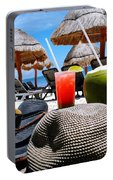 Tropical Paradise Sun, Sand, Beach And Drinks. Portable Battery Charger