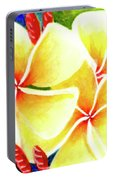Tropical Plumeria Flowers #226 Portable Battery Charger