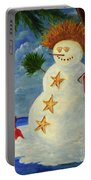 Tropical Snowman Portable Battery Charger