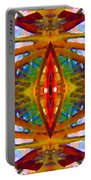 Tropical Stained Glass Portable Battery Charger