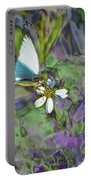 Tropical White Portable Battery Charger