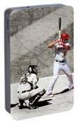 Trout At Bat Portable Battery Charger