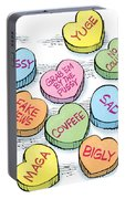 Trump Valentines Candy Uncensored Portable Battery Charger