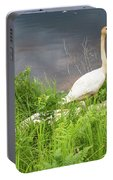 Trumpeter Swan Family - Portrait Portable Battery Charger