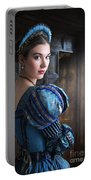 Tudor Woman With Puffed Sleeves And French Hood Facing A Window  Portable Battery Charger