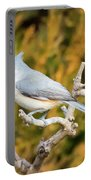 Tufted Titmouse On A Branch Portable Battery Charger