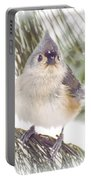 Tufted Titmouse Snow Face Portable Battery Charger