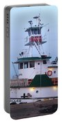 Tugboat At Twilight Portable Battery Charger