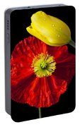 Tulip And Iceland Poppy Portable Battery Charger