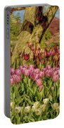 Tulip Bed At Longwood Gardens In Pa Portable Battery Charger