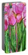 Tulip Bloomies 1 - Pink Portable Battery Charger
