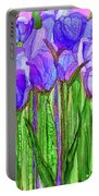 Tulip Bloomies 1 - Purple Portable Battery Charger