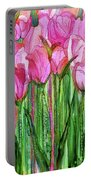 Tulip Bloomies 2 - Pink Portable Battery Charger