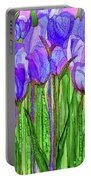 Tulip Bloomies 2 - Purple Portable Battery Charger