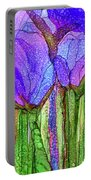 Tulip Bloomies 3 - Purple Portable Battery Charger
