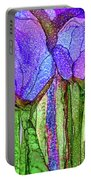 Tulip Bloomies 4 - Purple Portable Battery Charger