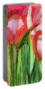 Tulip Bloomies 4 - Red Portable Battery Charger