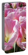 Tulip Flowers Garden Art Pink Tulips Baslee Troutman Portable Battery Charger