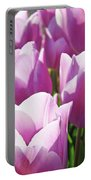Tulip Garden Flowers Purple Lavender Pastel Art Baslee Troutman Portable Battery Charger
